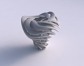 Vase double twisted with wide collapsed 3D print model 2