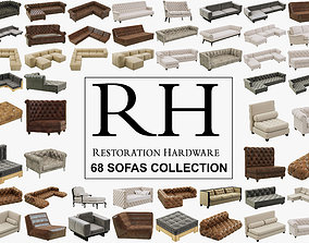 3D model Restoration Hardware 68 Sofas set