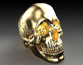 3D Gold Skull
