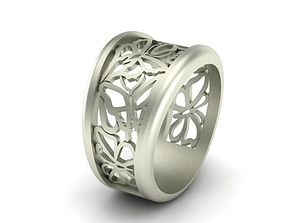 jewelry Butterfly Ring 3D printable model