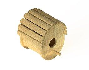3D model Wooden birdhouse 3