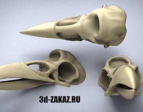 Three-Eyed Crow Skull games 3D print model