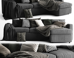 Vimle Sofa 3 Seats Chaise Longue 3D