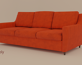 3D model 70s Couch
