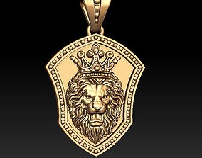 Lion pendant pantera 3D print model
