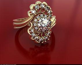 DIAMOND RING ZR170201 3D printable model jewelry