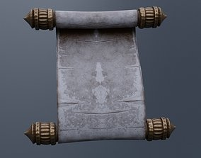 Old Paper Scroll 3D model game-ready