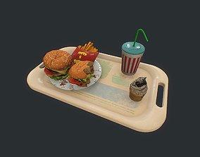 Burger pbr 3D model game-ready