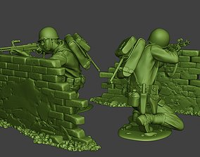 American soldier ww2 Shoot Cover A10 3D print model