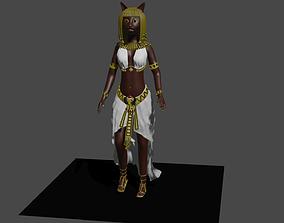 3D asset Basted Egyptian Goddes
