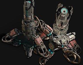 cyber SciFi Beacon 3D model