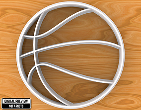 3D print model Basketball Ball Cookie Cutter