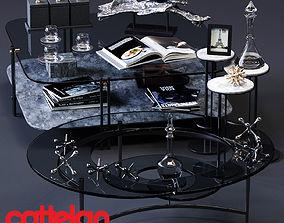 3D asset Cattelan Italia Coffee Tables Set 01