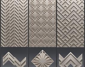 Gypsum 3D panel set 7