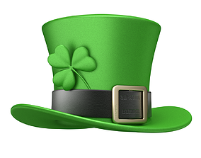 3D Saint Patrick Day Hat with Clover