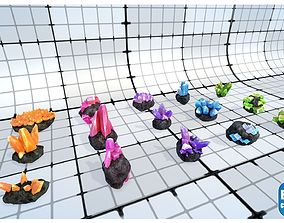3D model realtime Best Crystals - 75 crystal gems