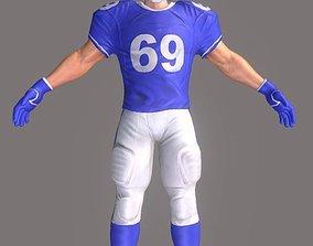 American Footballer 3D asset