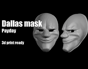 3D printable model Dallas Payday mask helmet