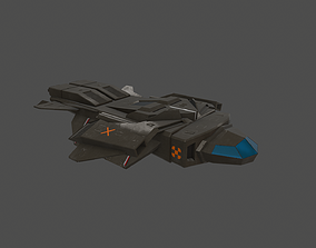 flying 3D model VR / AR ready Spaceship