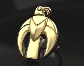Scythian golden eagle ring and pendant 3D print model
