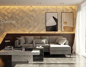 interior scene living room 3D