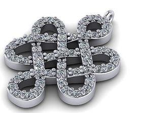 Eternity Knot Pewter Pendant 17 3D printable model