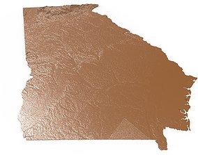 Georgia Relief Map 3D printable model