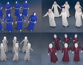 Man maneken arabic 16 x different models 128 poses 3D