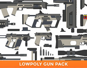 3D model LowPoly Gun Pack