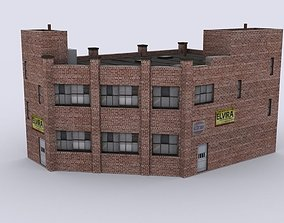 3D model game-ready Industrial building