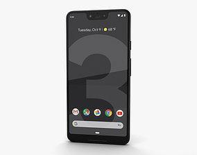 Google Pixel 3 XL Just Black 3D model touchscreen