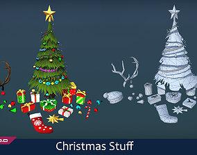 Christmas stuff 3D asset