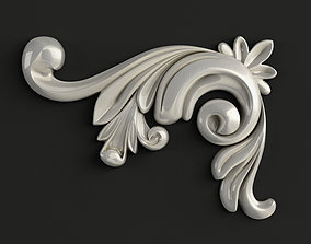 3D Carved decor corner piece 3D model