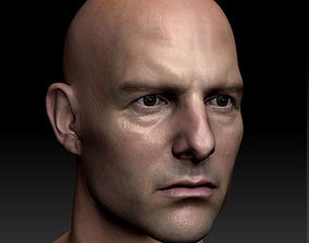 game-ready 3d model Tom Cruise head ztl obj
