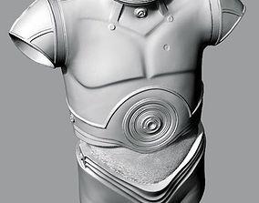 sci-fi C-3PO Body - Torso 3D scan 3D print model