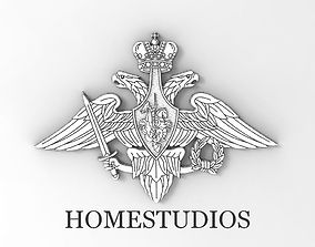 The emblem of the Russian armed forces 3D printable model