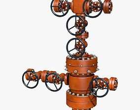 3D model Industrial Equipment Red Regulator