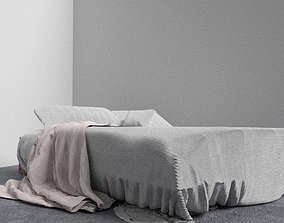 Trendy Tucked Bed with Throw 3D