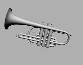 Miniature Trumpet 3D model
