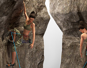 Female Rock Climber 3D model