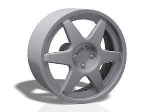 tuning 3D print model 6 spokes rim - llanta
