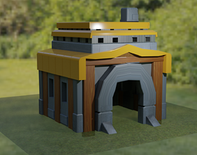 clash of clans TOWN HALL 5 3D model