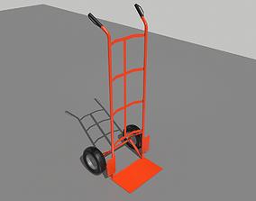 3D asset Industrial Hand Trolley 2