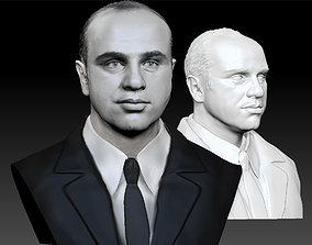 Al Capone the most famous gangster bust 3D print model