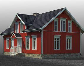 small Swedish house 3D model