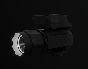 3D model Tactical Flashlight