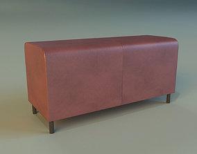 Banquette leather 3D