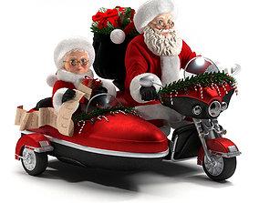 christmas decorative-santa claus 3D