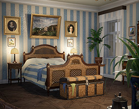 3D asset RUSSIAN BEDROOM
