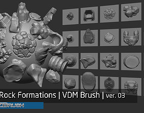 Zbrush - 20 Rock Formations and Stone Sculptures v03 3D
